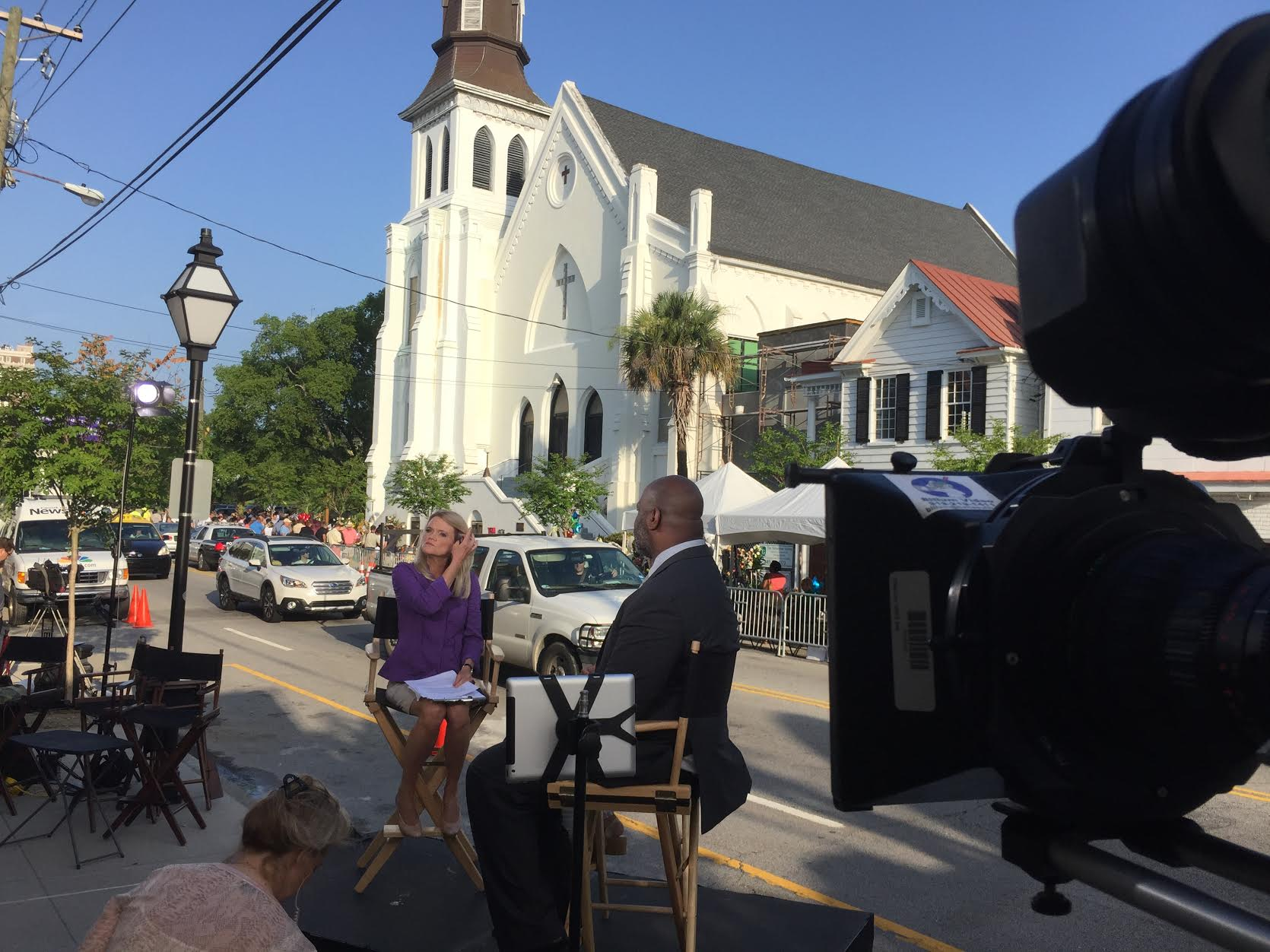 """ABC News """"This Week with George Stephanopoulos"""" at Mother Emanual AME Church in Charleston, SC, June 2015"""