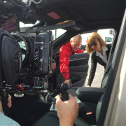 Going hand held for a car commercial