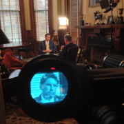 Interviewing NC Governor McCrory for The CBS Evening News