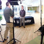 Shooting a recruiting video for Fidelity Investments
