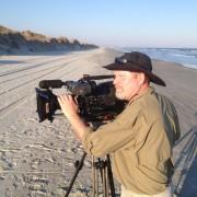 On the beach for CBS